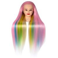Учебный манекен, 100% протеиновые волосы PHL-045