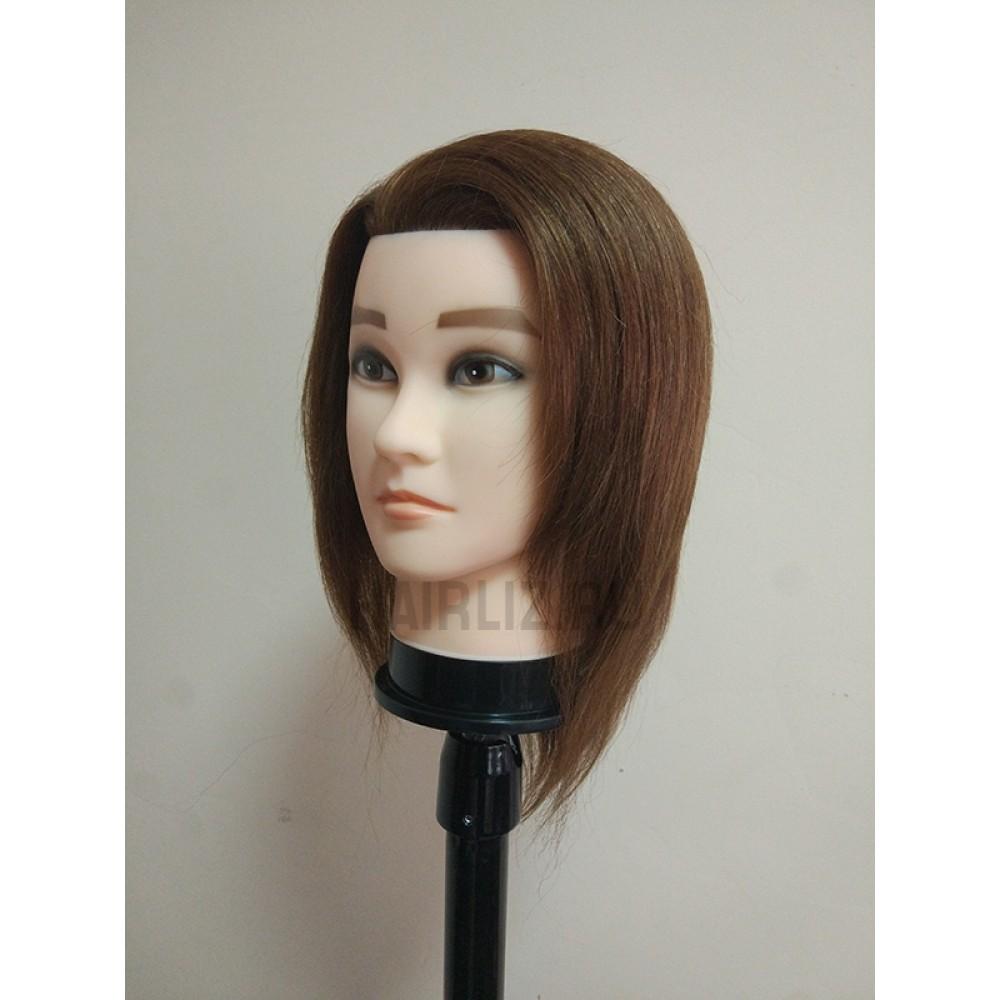 Учебный манекен, 100% натуральный волос NHL-096