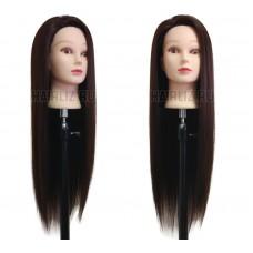 Шатен, 100% протеиновые волосы PHL-004