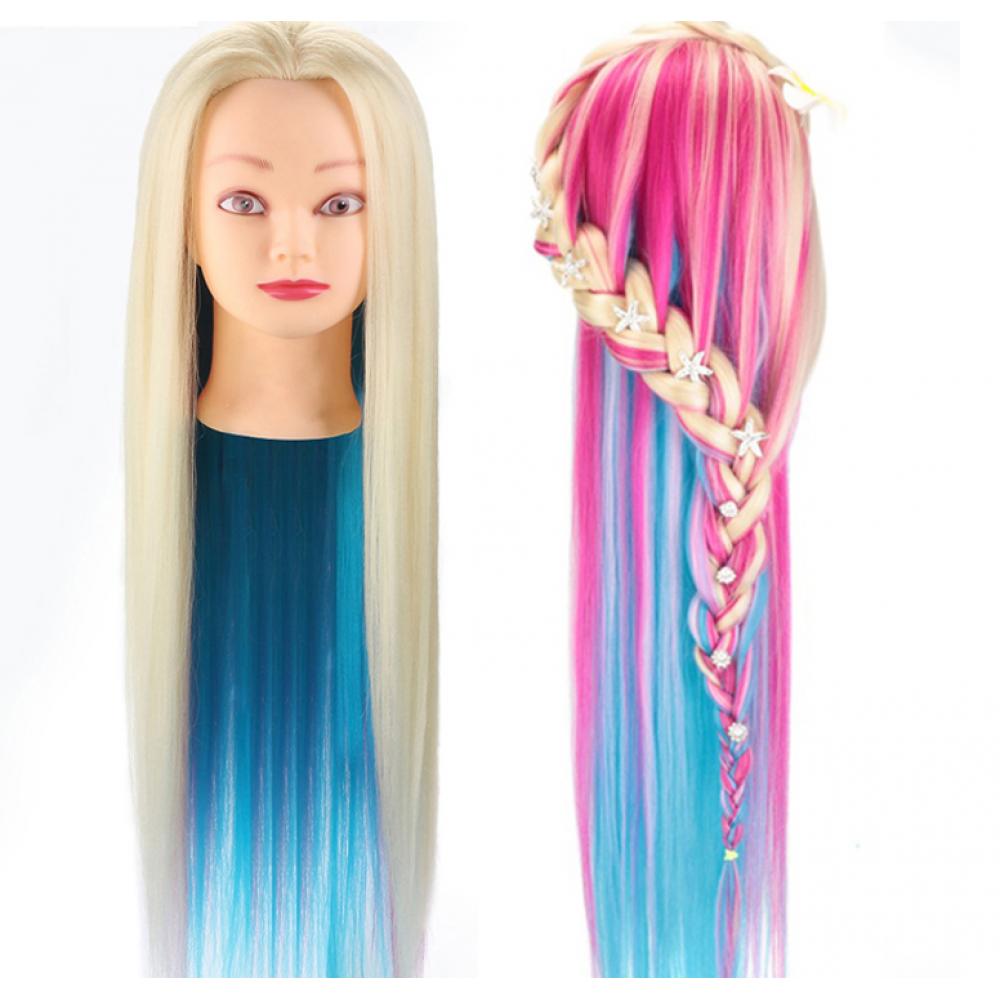 Учебный манекен, 100% протеиновые волосы PHL-040